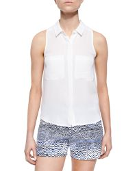 Trina Turk Sleeveless Button-Front Top - Lyst