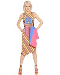 Peter Pilotto Striped Jacquard Dress - Lyst
