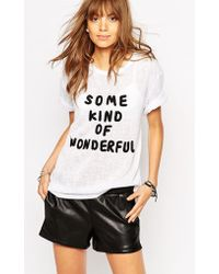 Native Rose - Knitted Slogan Top - Lyst