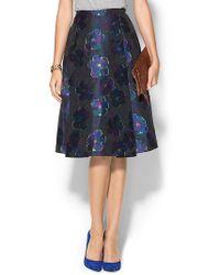 Kate Spade Floral Clip Dot Aline Skirt - Lyst