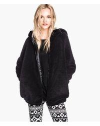 H&M Pile Jacket - Lyst