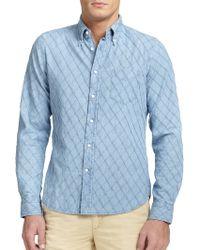 Gant Rugger Diamond Textured Chambray Shirt - Lyst