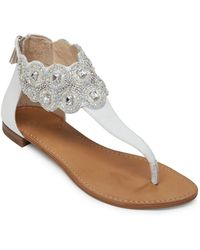 Vince Camuto Sandals Allik Beaded Flat Sandals In Blue