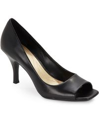 Tahari - Riddle Leather Peep-toe Court Shoes - Lyst