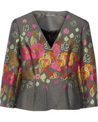 Matthew Williamson Brocade Peplum Jacket - Lyst
