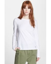 Marc By Marc Jacobs Pima Cotton Tee - Lyst