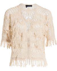The Kooples Crochet Cardigan - Lyst