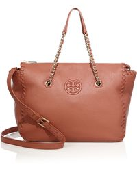 Tory Burch | Marion Leather Satchel | Lyst