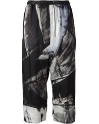 Ilaria Nistri Abstract Print Cropped Trousers - Lyst