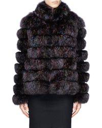 Hockley 'Tattler' Fox Fur Suede Jacket - Lyst