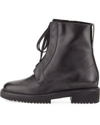 Vince   Connelly Leather Combat Boot   Lyst
