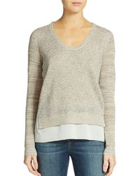 DKNY Short Over Long Sweater - Lyst
