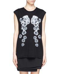 Alexander McQueen Dandelion Skull Print Tank Top - Lyst