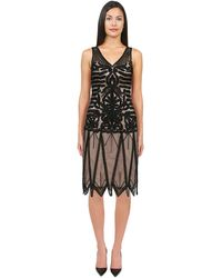 Sue Wong Double Netting Layered Dress - Lyst