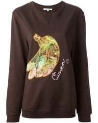 Carven - Banana Embroidered Sweatshirt - Lyst