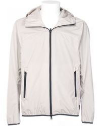 Herno White Woven Windproof With Hood Jacket white - Lyst