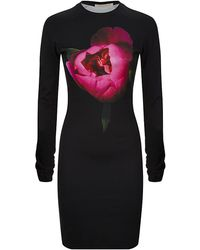 Christopher Kane Peony Print Bodycon Dress - Lyst