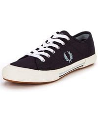 Fred Perry Vintage Canvas Plimsolls - Lyst