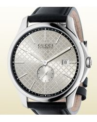 Gucci Ya126313 G-Timeless Automatic Stainless Steel And Leather Watch - For Men - Lyst