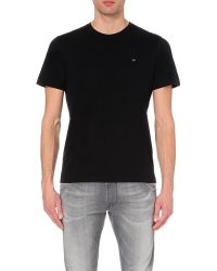 Diesel Metal-Logo Cotton-Jersey T-Shirt - For Men - Lyst