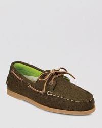 Sperry Top-sider Ao 2-eye Wool Boat Shoes - Lyst