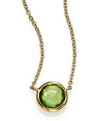 Ippolita Lollipop Peridot & 18K Yellow Gold Mini Pendant Necklace - Lyst