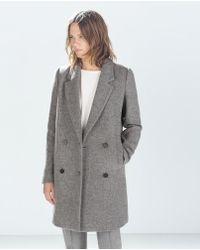 Zara Structured Coat - Lyst