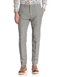 Kent And Curwen Slim-Fit Houndstooth Trousers - Lyst
