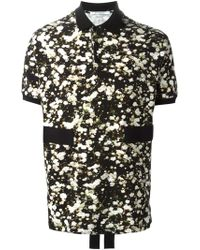 Givenchy Floral-Print Polo Shirt - Lyst