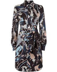 Emilio Pucci Silk Shirt Dress - Lyst