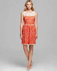 Trina Turk Dress Camilla Sleeveless Embroidered - Lyst