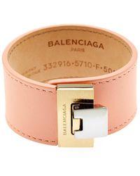 Balenciaga - Le Dix Leather Cuff - Lyst