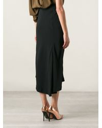Haider Ackermann Draped Midi Skirt - Lyst