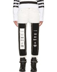 Hood By Air - Ssense Exclusive White Zip_Off Graphic Jeans - Lyst