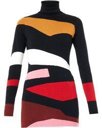 Issa Elise Abstract-intarsia Sweater - Lyst