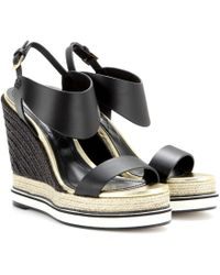 Nicholas Kirkwood Leather Espadrille Wedge Sandals - Lyst