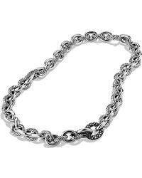 David Yurman Oval Link Chain Necklace with Diamonds - Lyst