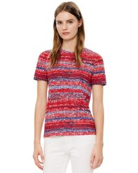 Tory Burch Red Printed T-Shirt - Lyst