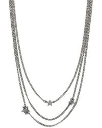 BCBGeneration Silver-tone Star Multi-row Necklace - Lyst