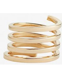 Jennifer Zeuner - Fortuna Spiral Baguette Ring - Lyst