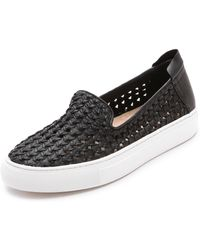 Rachel Zoe Burke Slip On Sneakers - Black - Lyst