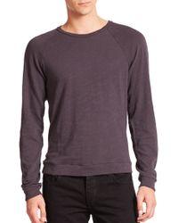 Rag & Bone Standard Issue K-Long Sleeve Raglan Tee gray - Lyst