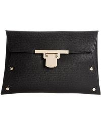 Asos Envelope Clutch Bag with Flap Lock - Lyst