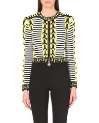 Versace Knitted Jacket - For Women - Lyst