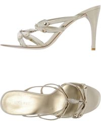 Nine West Sandals white - Lyst