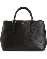 Tory Burch Robinson Stitched Double Zip Tote - Lyst