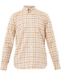 Steven Alan Collegiate Gridprint Shirt - Lyst