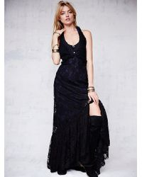 Free People Ana'S Limited Edition Lace Halter Dress - Lyst
