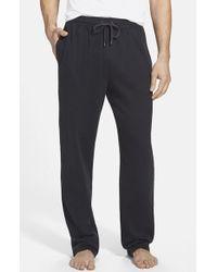 Calvin Klein Cotton Blend Lounge Pants black - Lyst