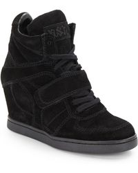 Ash Cool Suede Wedge Sneakers - Lyst